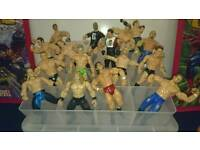 A selection of wrestling figures