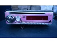 Pink and white JVC cd player