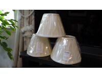 Three Brand New Ivory Laura Ashley light/lamp shades in original wrapping