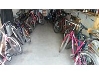over 40 ladies and gents mountain bikes ( car boot prices ) nr. manchester uni