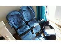 Immaculate Bugaboo donkey v1.1 double duo pushchair with extras