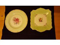 Lovely elegant fine bone china serving plates. Both for £1.50!!
