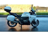 Honda VFR1200F in Pearl White ONLY 2611 miles from new, with ALL BOXES, centre stand, fitted Garmin