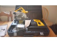 Dewalt 24 v cordless tools set consist of SDS DRILL/CIR.SAW/BATTS/CHARGER, see photos & details