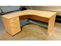 Corner computer desk with matching drawers office shop home commercial