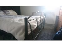 Excellent condition Steel double bedframe and mattress