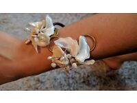 Vintage style handmade mother of pearl bracelet