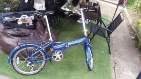 "Raleigh CALDERA Lite Folding Bike, 6 gears, Aluminium frame AND WHEELS 20"""