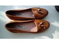 DUNE LONDON LEATHER/SUEDE MOCCASINS SIZE 5 (38) NEW/UNWORN