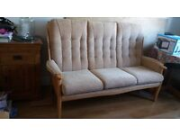 High backed sofa, immaculate condition, barely used.