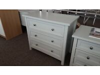 Maine Grey 3 Drawer Wide Chest By Julian Bowen Can Deliver