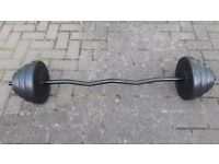 EZ BAR WITH 20KG WEIGHTS