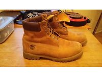 MENS TIMBERLAND BOOTS SHOES BEIGE 100% LEATHER SIZE UK 12