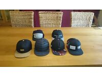6 snapback hat's - collection only