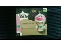 Tommee Tippee 2 x decorated bottles Pink