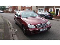 2001(51)MERCEDES C220 DIESEL AUTO MET RED,LEATHER,GOOD RUNNER,SPARES OR REPAIRS