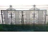 1930s reclaimed pair of wrought iron gates- driveway - great condition