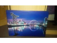 Large canvas of Glasgow