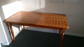 Light pine dining table and set of 4 chairs for sale