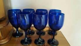 Libbey Cobalt Blue Wine Goblets
