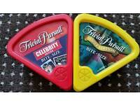 Trivial persuit celebrity & trivial pursuit family bite size editions