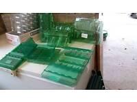 Assorted plastic plant holders for posting .