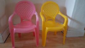 2 kid's plastic chairs FREE