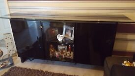 Black shreiber high glass sideboard paid £800 sell for £50 solid needs 2 men to lift