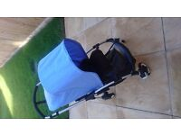 Bugaboo Bee incl raincover and baby cacoon.
