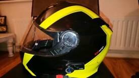 Motorbike helmet. Bluetooth.
