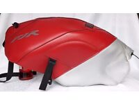 Bagster tank cover for Yamaha FJR Motorbike. Red.