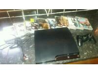 Ps3 slim 320gb with games gc working order