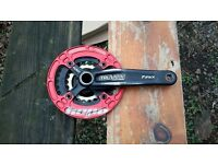 DOUBLE RING CHAINSET WITH BOTTOM BRACKET SRAM TRUVATIC FIREX GXP