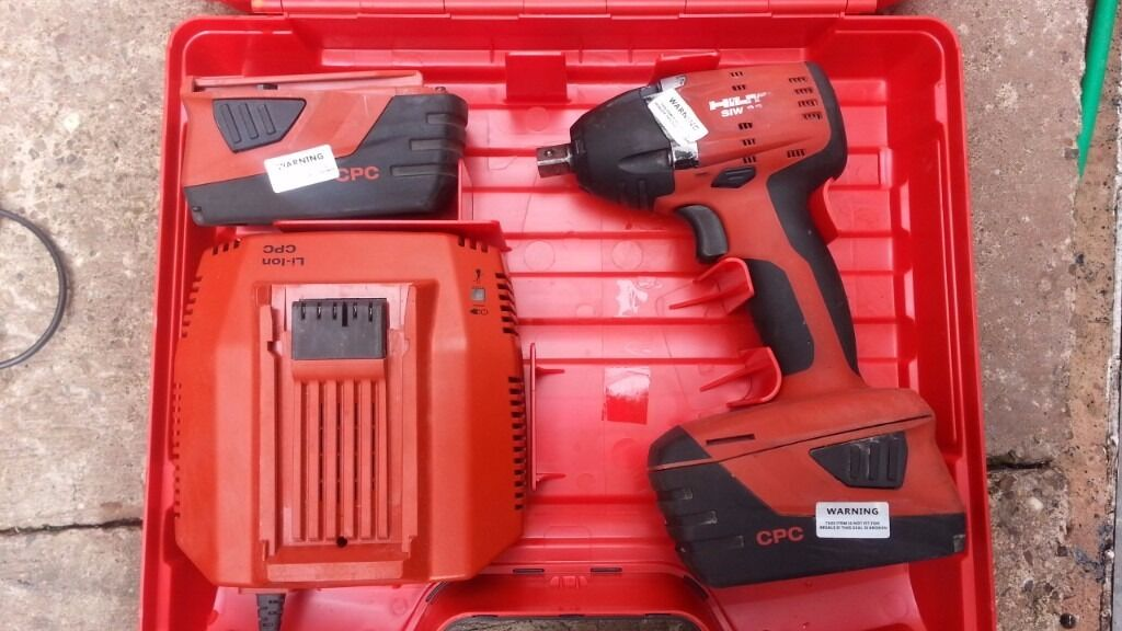 hilti siw 22 a impact wrench 22v 2015 year in wednesbury. Black Bedroom Furniture Sets. Home Design Ideas
