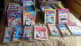 selection of beano and dandy annuals