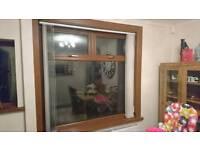 Large oak upvc window