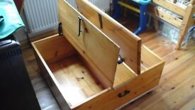 Pine Cofee table/toy box
