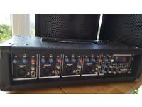 KAM Headmaster Mixer Amp + 2x Pulse Speakers PA System