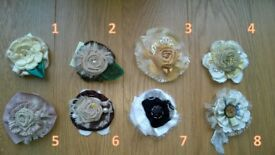 Decoration £ 8 Handmade fabric Brooche/Pin flowers for different occasions