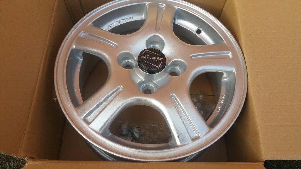 Stilauto alloy wheel new condition with box ditails on pictures!can deliver or post! Thank you