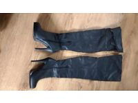 Thigh length boots size 5