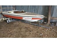 Boat trailer with free speedboat project