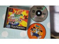 3 Classic Playstation 1 games - Ape Escape, Resident Evil and Parappa the Rapper