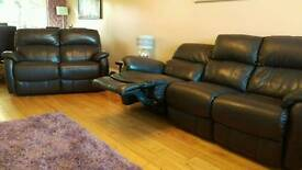 3 seater full tough leather electric recliner, settee sofa, smoke free home
