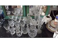 20 pieces of assorted 1930s crystal