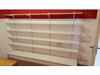 8 foot long adjustable shop Shelving