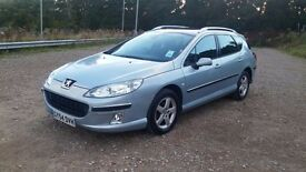 54 peugeot 407 sw 1.6 hdi estate low mileage