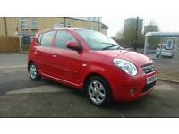 2009 KIA Picanto 1.1 Red 5dr Excellent Condition. Hpi clear 1 owner.