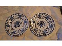 """Vintage Johnson Bros """"Indies"""" Tea plates x2"""