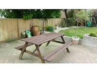 Hardwood picnic bench